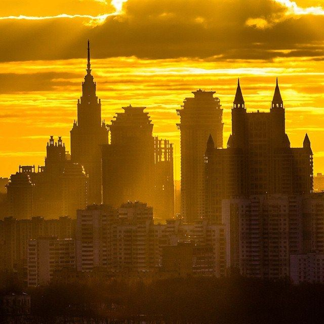 Sunrise in this morning in Moscow