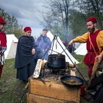 Squires cook on medieval recipes and technology