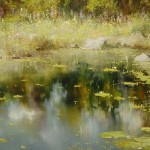 Russian nature in the painting