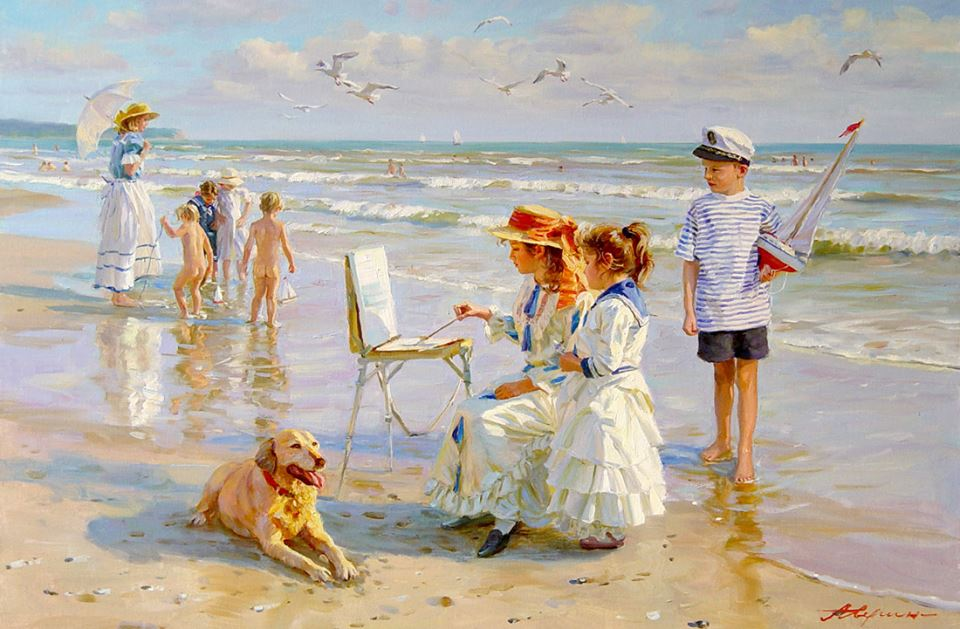The paintings of the Russian artist Alexander Averin