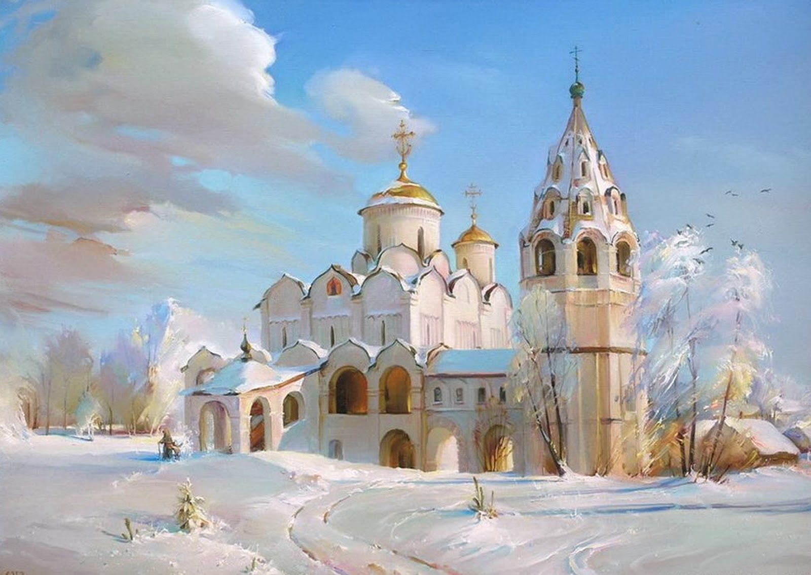 Russian winter landscape